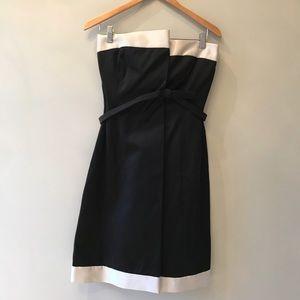 MaxMara Black White Strapless Dress Bow Imbocco 8